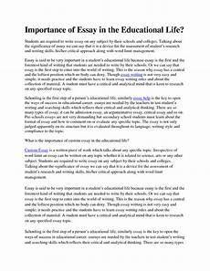 English Essay Importance Of Education 001 Essay Example Importance Of School Essays On English