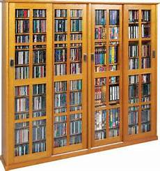sliding glass door 1400 cd 672 dvd storage cabinet
