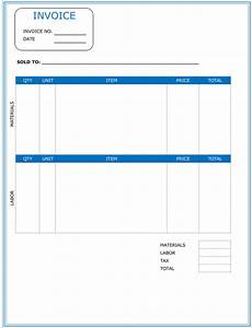 Contract Work Invoice Template Contractor Invoice Template 6 Printable Contractor Invoices