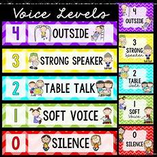 Voice Chart Voice Level Chart By Sweet Prints By Teachers Pay