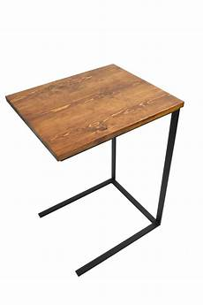 tv tray table laptop desk c table side by blackironmetalworks