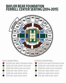 Baylor Football Seating Chart Baylor University Bear Foundation Basketball Seat