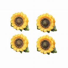 sunflower country cabinet drawer pulls set of 6 by
