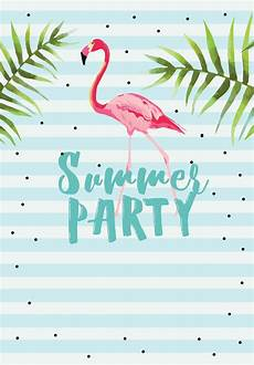 Summer Party Invitations Templates Chill With Flamingo Free Printable Summer Party