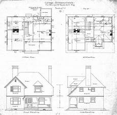 Floor Plan And Elevation Cottage Quot J For Geo W Vanderbilt Esq And Second