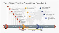 Sample Timelines In Powerpoint Three Stages Timeline Template For Powerpoint Slidemodel