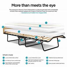be impression single folding bed with memory foam