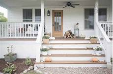 Farmhouse Front Porch Lights Fall Farmhouse Front Porch Farmhouse On Boone