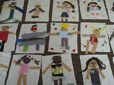 fabric self portraits by kindergarteners arts and crafts