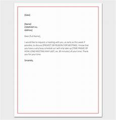 Sample Letter Requesting A Meeting Meeting Appointment Letter 9 Templates For Word Pdf Format