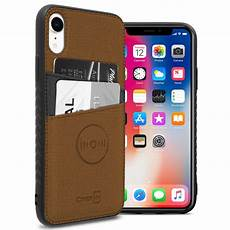 credit card sleeve for phone coveron apple iphone xr 6 1 quot 10r card edc series