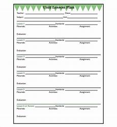 Unit Lesson Plan Template Free 7 Sample Unit Lesson Plan Templates In Pdf Ms Word
