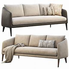 Sofa Cover 3 Seater Leather 3d Image by Rhys Leather Bench Seat Sofas 2 Options 3d Model