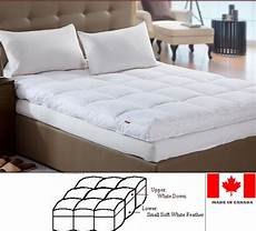 luxury feather bed mattress topper custom made in