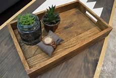 diy reclaimed wood tray west elm knockoff diy huntress