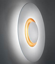 Circular Led Light Led Circular Wall Light With Gold Interior