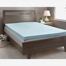 slumber solutions gel 4 inch memory foam mattress topper