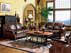 empire traditional living room furniture brown leather