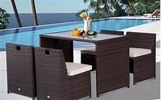 tavolo con sedie a scomparsa tavolo con 4 sedie a scomparsa mobili da giardino rattan