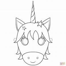 ausmalbild unicorn mask ausmalbilder kostenlos zum