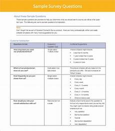 Customer Service Survey Questions Template Free 10 Sample Customer Survey Templates In Pdf Ms Word