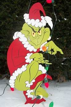 The Grinch Pulling Down Lights The Grinch Wood Cut Out Crafts Pinterest Grinch The
