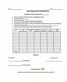 Repayment Contract Templates Free 56 Loan Agreement Forms In Pdf Ms Word