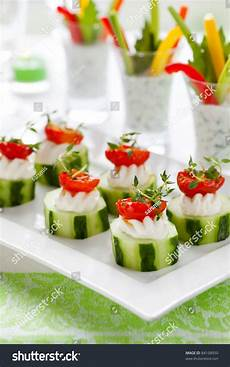 vegetable appetizerscucumbers soft cheese sun