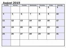 Calendar August August Calendar 2019 Printable With Notes Net Market Media