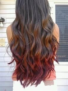 Dark Brown Hair Dip Dyed Light Brown Dip Dye Red Brown Daily Vanity