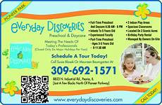 Day Care Ad Everyday Discoveries Preschool Amp Daycare Peoria Il 61615