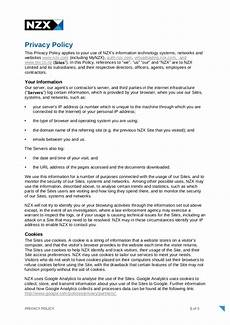 Privacy Policy Sample 9 Privacy Policy Templates Pdf Doc Free Amp Premium
