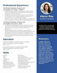 Wordpress Developer Resume Wordpress Developer Resume Resumego