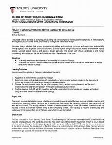 Architecture Project Description Project 2 Brief Architecture Studio 4 Arc60206 August 2015 1