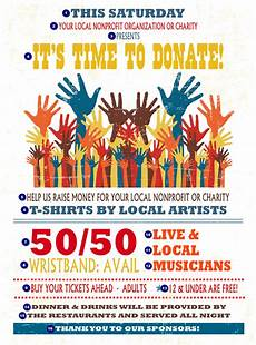 Charity Event Flyer Templates Free Fundraising Hands Flyer Ticketprinting Com