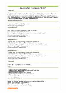 Resume Technical Summary Sample Technical Writer Resume