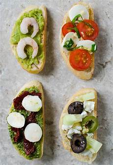 4 way crostini appetizers what u eat