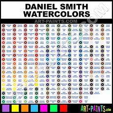 Daniel Smith Watercolor Color Chart Daniel Smith Watercolor Chart Painting Subjects