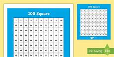 100 Square Pocket Chart Hundred Number Square Primary Resources Teacher Made