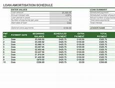 Loan Repayment Schedule Calculator Excel Loan Repayment Schedule
