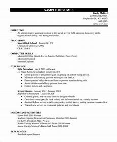 Sample Resume For High School Students Free 10 Sample Resume For College Student In Ms Word Pdf