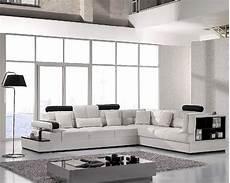 modern white leather sectional sofa set 44lt117