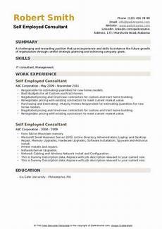Self Employed Resume Samples Self Employed Consultant Resume Samples Qwikresume