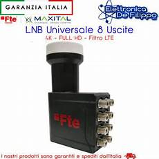illuminatore parabola 2 uscite ux octo lnb 8 uscite illuminatore lte free parabola