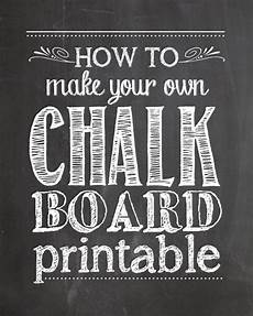 Chalkboard Template For Word How To Make Your Own Chalkboard Printables How To Nest
