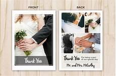 Wedding Thank You Postcard Template Wedding Thank You Card Template Flyer Templates