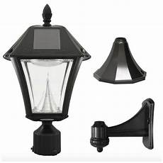 Led Yard Light Pole Mount Solar Led Black Outdoor Street Post Pole Wall Mount Light