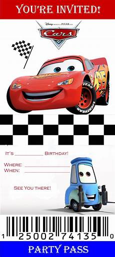 Cars Birthday Invitation Templates Downloadable Birthday Party Invites New Designs