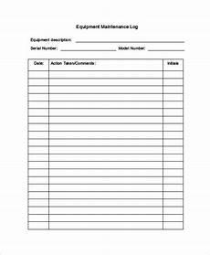 Equipment Maintenance Log Template Excel Maintenance Log Template 12 Free Word Excel Pdf