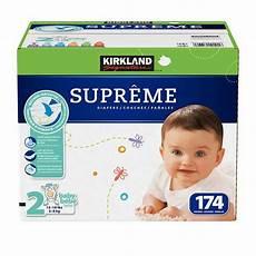 Kirkland Diaper Size Chart Kirkland Signature Supreme Diapers Sizes Size 2 One Box